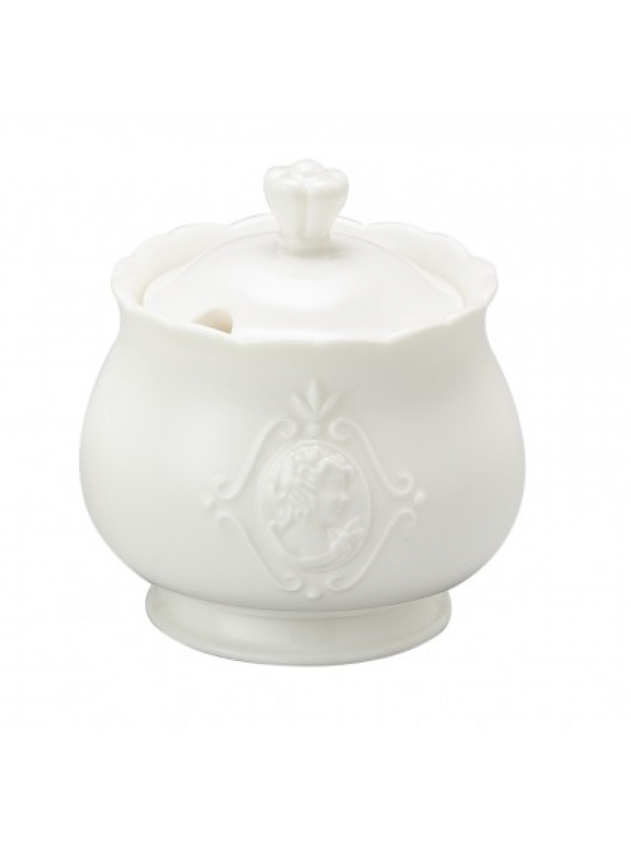 Açucareiro de Porcelana Super White Queen